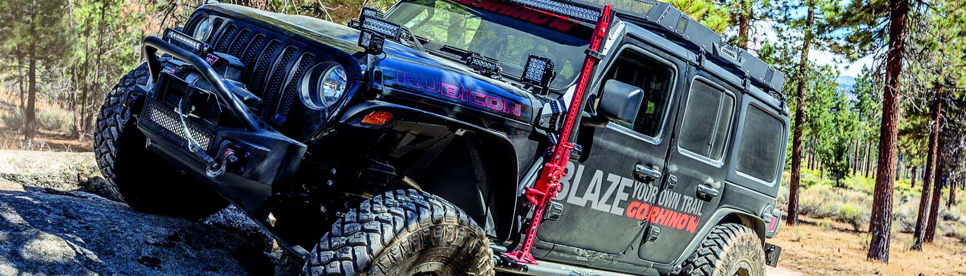 New Exterior Jack Mount by Go Rhino for Jeep Wrangler & Gladiator
