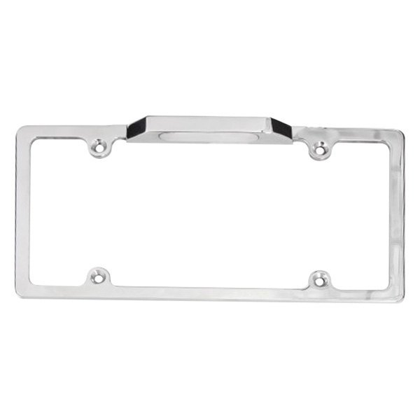 Carriage Works® 45022 - Polished License Plate Frame with Light
