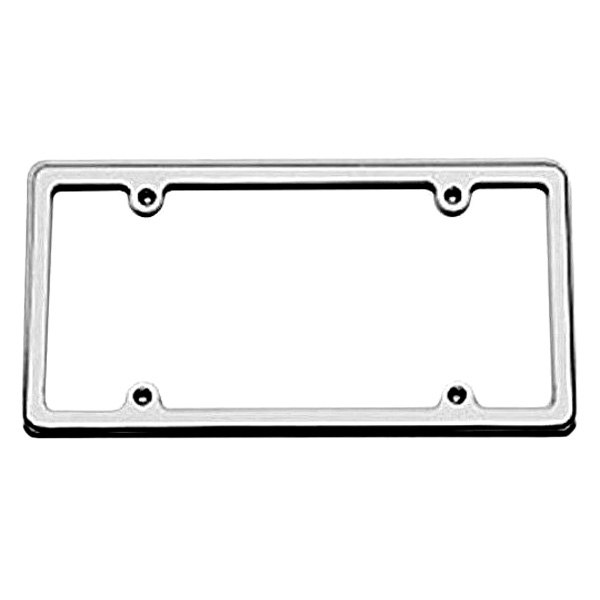 Carriage Works® 45031 - Brushed License Plate Frame w/o Light