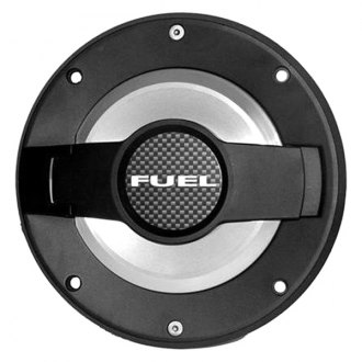 Drake Off Road® - Non-Loking Black Gas Cap Cover with Brushed Trim