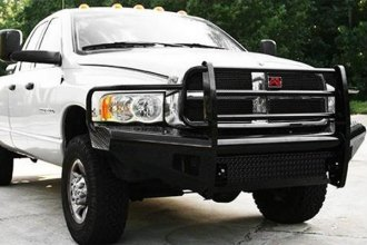 Fab Fours™ DR94-S1560-1 - Black Steel Front Bumper with Grill Guard