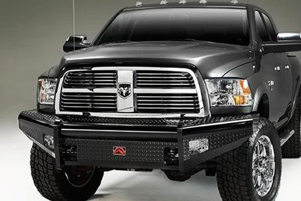 Image may not reflect your exact vehicle! Fab Fours™ - Black Steel Uncoated/Paintable Front Bumper