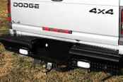 Image may not reflect your exact vehicle! Fab Fours™ - Black Steel Rear Bumper