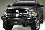 Image may not reflect your exact vehicle! Fab Fours™ - Elite Uncoated/Paintable Front Bumper with Pre-Runner Grill Guard