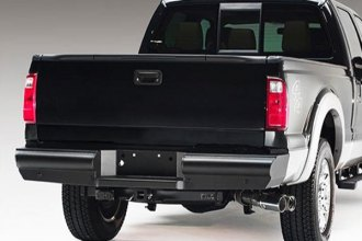 Image may not reflect your exact vehicle! Fab Fours™ - Black Steel Elite Black Powder Coated Rear Bumper