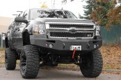 Image may not reflect your exact vehicle! Fab Fours™ - Premium Uncoated/Paintable Front Bumper