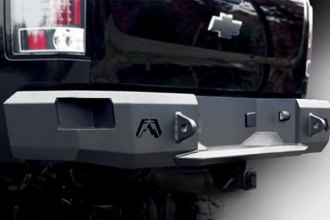 Fab Fours™ CS07-W1850-1 - Premium Black Powder Coated Rear Bumper