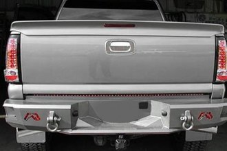 Image may not reflect your exact vehicle! Fab Fours™ - Premium Black Powder Coated Rear Bumper