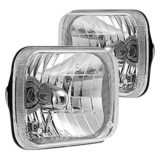 "Rampage® - 7x6"" Rectangular Chrome Euro Headlights"