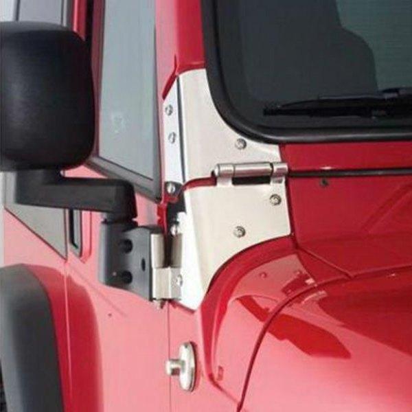 R&age® - Windshield Hinges & Rampage® - Jeep Wrangler Base / Renegade / S / Sahara / SE 1994 ...