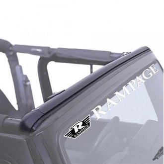 Rampage® - Black Windshield Channel