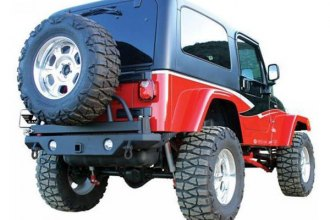 Rampage® - Recovery Rear Bumper with Swing Away Tire Mount
