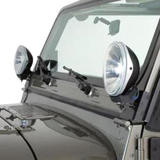 Rampage® - Black Windshield Hinge Light Bracket