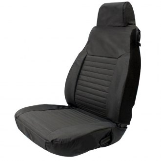 Rampage® - Factory 1st Row Black Denim Seat Covers