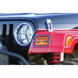 Rampage® - Black Powdercoat Front Light Guard Kit