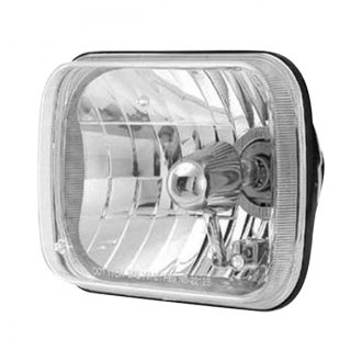"Rampage® - 4x6"" Rectangular Chrome Euro Headlights"
