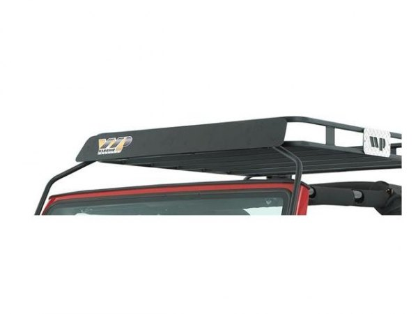 Image may not reflect your exact vehicle! Warrior® - Roof Rack Wind Deflector