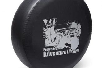 Warrior® - Lifestyle Protection Logo Black Spare Tire Cover
