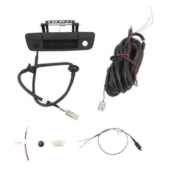 Brandmotion® - Tailgate Handle Mount Rear View Camera with Factory Display Harness