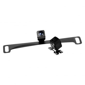 Brandmotion® - Universal/License Plate Mount Rear View Camera with Optional Parking Gridlines