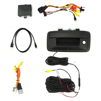 Brandmotion® - Tailgate Handle Mount Rear View Camera with Interface for Factory Display Radios