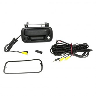 Brandmotion® - Tailgate Handle Mount Rear View Camera with Optional Gridlines