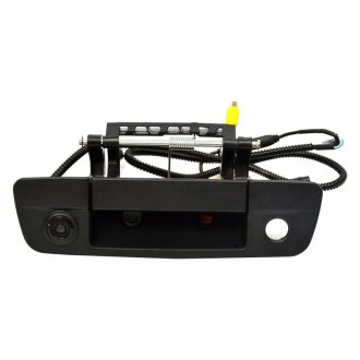 Brandmotion® - Tailgate Handle Mount Rear View Rear View Camera with RCA and Factory Display Harness