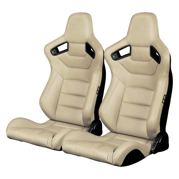 Braum® - Elite Series Sport Seats, Beige Leatherette