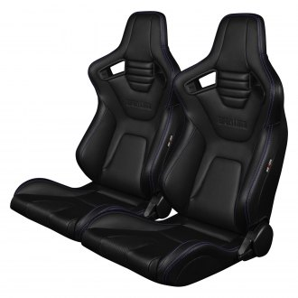 Braum® - Elite-X Black Leatherette Carbon Fiber Sport Seats