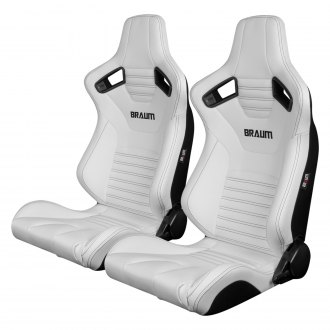 Braum® - Elite-X Series Leatherette Carbon Fiber Racing Seats