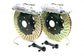 Brembo® - GT Series Cross Drilled Silver Brake Kit (4-Piston Caliper, 2-Piece Rotor)