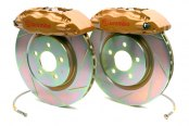Brembo® - GT Series Slotted Gold Brake Kit (4-Piston Caliper, 1-Piece Rotor)