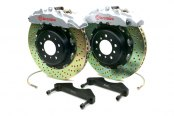 Brembo® - GT Series Cross Drilled Silver Brake Kit (8-Piston Caliper, 2-Piece Rotor)