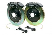Brembo® - GT Series Slotted Black Brake Kit (4-Piston Caliper, 2-Piece Rotor)