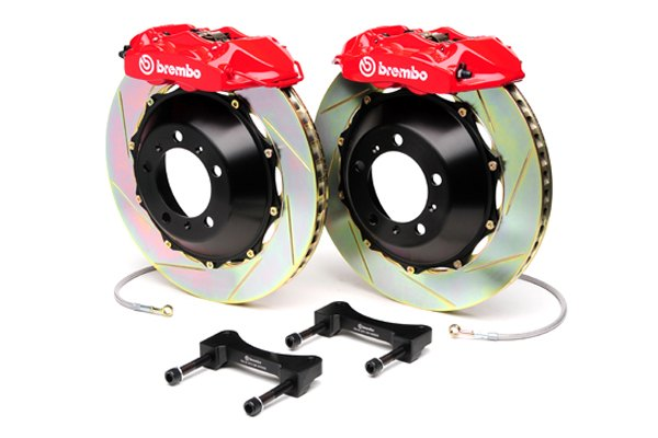Brembo® - GT Series Slotted Red Brake Kit (4-Piston Caliper, 1-Piece Rotor)