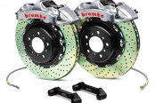 Brembo® - GT-R Series Cross Drilled Brake Kit (4-Piston Caliper, 2-Piece Rotor)