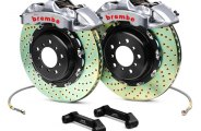 Brembo® - GT-R Series Front Cross Drilled Brake Kit