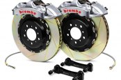 Brembo® - GT-R Series Slotted Brake Kit (4-Piston Caliper, 1-Piece Rotor)
