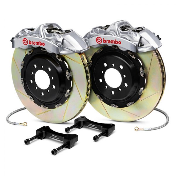BREMBO� - GT-R Series Slotted Brake Kit (6-Piston Caliper, 2-Piece Rotor)