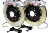 Brembo® - GT-R Series Slotted Brake Kit (6-Piston Caliper, 2-Piece Rotor)