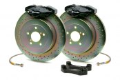 Brembo® - GT Series Cross Drilled Black Brake Kit (2-Piston Caliper, 1-Piece Rotor)