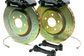 Brembo® - GT Series Cross Drilled Black Brake Kit (4-Piston Caliper, 1-Piece Rotor)