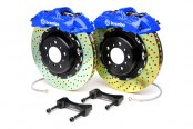 Brembo® - GT Series Cross Drilled Blue Brake Kit