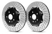 Brembo® - GT Series Cross Drilled Brake Disc Upgrade (2-Piece Rotor)