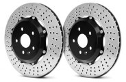 Brembo® - GT Series Front Cross Drilled Brake Disc Upgrade