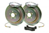 Brembo® - GT Series Cross Drilled Silver Brake Kit (2-Piston Caliper, 1-Piece Rotor)