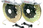 Brembo® - GT Series Cross Drilled Silver Brake Kit (4-Piston Caliper, 1-Piece Rotor)
