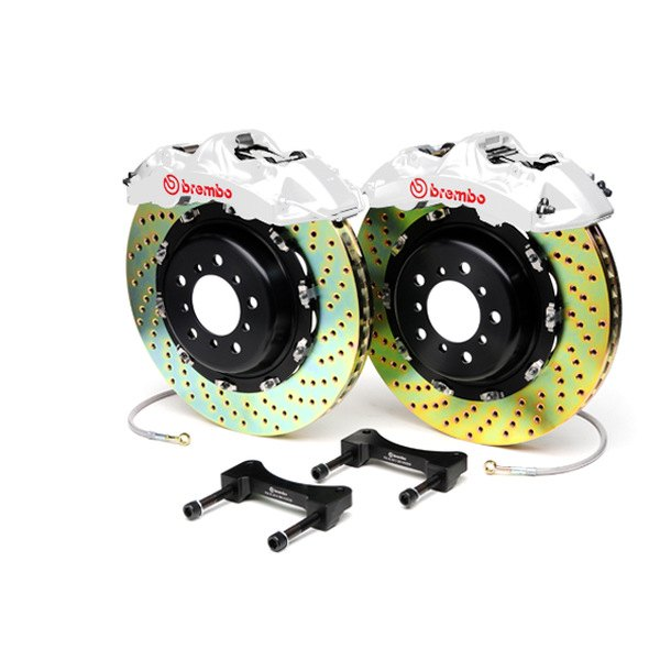 Brembo® - GT Series Cross Drilled White Brake Kit