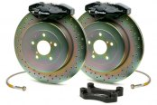 Brembo® - GT Series Slotted Black Brake Kit (2-Piston Caliper, 1-Piece Rotor)