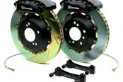 Brembo® - GT Series Slotted Black Brake Kit (4-Piston Caliper, 1-Piece Rotor)